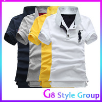 2013 New Fahion Men's Stylish Slim Short Sleeve Shirts Fit  Polo T Shirt  For Men  4 Color Free Shipping