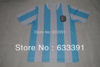 1986 mexico world cup argentina white/blue home MARADONA