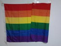 RAINBOW FLAG GAY LESBIAN PRIDE LGBT PEACE  POSTER BANNER EVENT SIGN FESTIVAL DECORATION FLAG