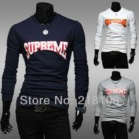 Free shipping New men's fashion printing shirt long-sleeved t-shirt