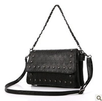 2013 skull rivet vintage bag all-match bag handbag shoulder bag messenger bag female