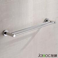 Bathroom sanitary ware hardware accessories space aluminum towel rack double bath towel shelf 5204