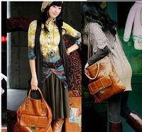 free shipping Korean leisure women fashion PU leather handbag tote bag lady handbag