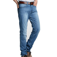 Free shipping new high quality men's jeans men straight casual denim trousers male pants Slim