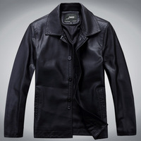 Мужские изделия из кожи и замши Spike! winter black leather jacket men big fox fur leather coat for the men's fashionable luxury brand clothes
