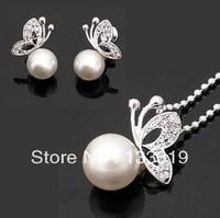 Fashion pearl jewelry set, Fashion jewellery settings, Pendant&earrings(twinset),Free necklace Vintage Jewelry CLOVER151B/1205