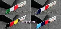 free shipping 2pcs hight Quality ITALY FRANCE GERMANY Flag MOTORSPORT SLINE Alumium car Badge Emblem Peugeot car stick 9.8x1.4CM