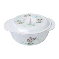 Baby 5.5 ears tureen child baby bowl spoon with lid tableware