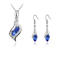 Fashion accessories female accessories austria crystal set fairy short design