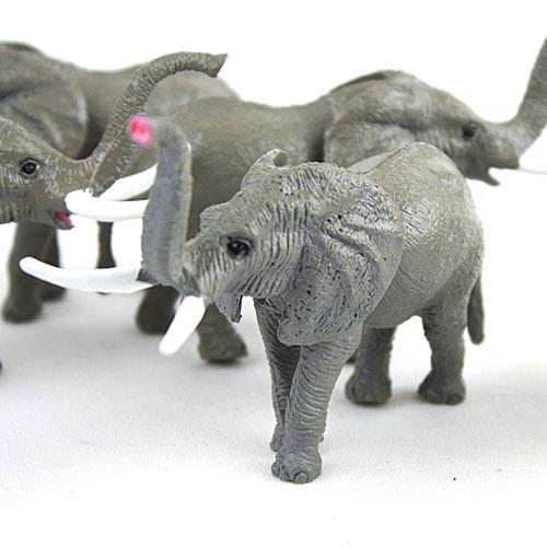 Child plastic model toys wild animal artificial animal model decoration Wild elephants(China (Mainland))
