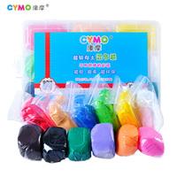 Ultra-light cymo clay set child handmade dough plasticine space paper clay 12