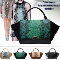 100% Genuine leather bags for women Handbag snake ears bats cowhide leather bags phantom smile embarrassed bag women famous bags