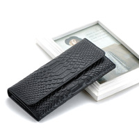 Free Shipping New Fashion Designer Handbag High Quality Genuine Leather Crocodile Women Long Wallet Best Gift 7 Colors