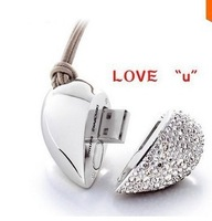 Genuine Capacity USB Flash Drive, Heart Pen Driver, Gift USB Flash Disk, Jewelry USB flash drive