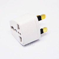 Free Shipping,10pcs/lot High quality AC adapter US/AU/EU to UK AC Power Plug CT1002