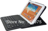 10PCS/LOT FOr Galaxy Note 8.0 N5110/N5100 360 degree leather rotating Separable Bluetooth keyboard case with Retailbox