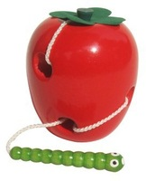Free Shipping! Baby Toys Montessori Wooden Toys Eat The Worm In Apple Baby Educational Toys Early Learning