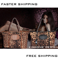 Hotsell2013 new women's handbag pu leather bag shoulder casual sexy leopard  single shoulder casual style  handbag free shipping