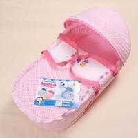 Puku blue penguin baby box baby basket bed portable baby bed newborn