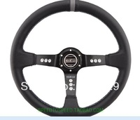 "14"" 350mm Black PVC Sparco Auto Parts Racing Car Steering Wheel With Horn Button"