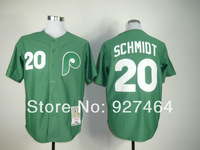 Wholesale&Retail Philadelphia Phillies jersey #20 Mike Schmidt Throwback Baseball Jersey, size M-3XL