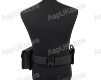Tactical Security  Guard Utility Kit Belt And Pouch System Black BK free shipping