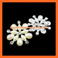 Free Shipping ! 250pcs/lot Flower Pearl&rhinestone Brooches ,Ivory pearl PIN,Wedding Bridal/Invitation Pin