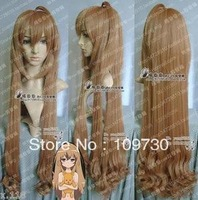 jj 00239 New Long Brown TIGERXDRAGON Aisaka Taiga Cosplay wig 85cm