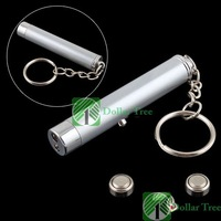 Free shipping: 2 in 1 Red Laser Pointer LED Torch Flashlight Keychain wholesale