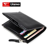 Septwolves wallet genuine leather multi male wallet card holder multifunctional male fashion short design wallet card holder