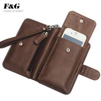 2013 clutch multifunctional male wallet short design genuine leather mobile phone bag multi card holder wallet vertical card