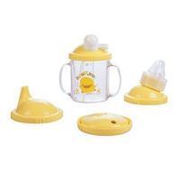 Yellow duck training cup four in one cup practice school drinking cup 240ml 83349