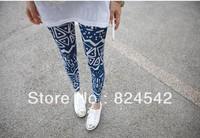 Free Shipping Roman Geometry Nine Minutes Of Pants Lady's Leggings