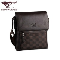 Septwolves male shoulder bag bags male messenger bag man bag a1910299-02