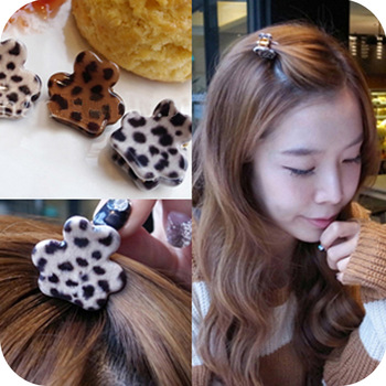 Fashion  leopard print small gripper clip hair pin hair caught free shipping