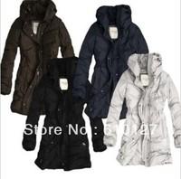 Free shipping long Down Parkas for women fashion coats winter Casual zipper warm clothing High collar cardigan outwear 5 colors