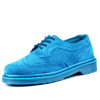 Dr . mannar 1461 Sky Blue wool carved formal casual martin low single shoes