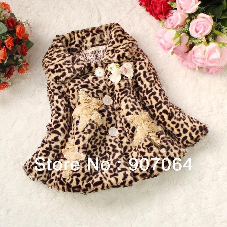 Girls Leopard Coat