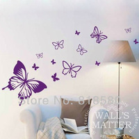 Free Shipping Home Decor Large Lovely Butterflies Vinyl Wall Art Stickers Wall Decals 45 x 70cm