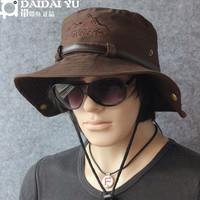 Belt hair-tail outdoor sun hat anti-uv bush hat bucket hat sunbonnet ride cap fishing cap