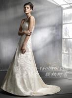 Free Shipping Wedding dress quality wedding dress beige lace wedding dress wedding dress wedding dress lz3802