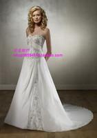 Free Shipping Wedding dress embroidered wedding gown train wedding dress customize fashion wedding dress wlf273