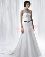 Free Shipping Wedding dress w fashion 2012 three-dimensional cut tube top long trailing wedding dress