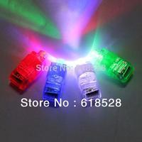 Free shipping 100pcs/lot Finger Lights finger ring magic beam laser lights party concert KTV supplies Toys LED Lights