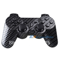 Carbon Fiber Hydro Dipped Controller Shell Buttons For PS3 Controller + Free Shipping