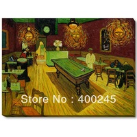 Oil painting on canvas, Gallery Wrap,Vincent Van Gogh Painting,The Night Cafe,museum quality,hand-painted,free shipping