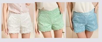 Plus Size Crochet Lace Shorts