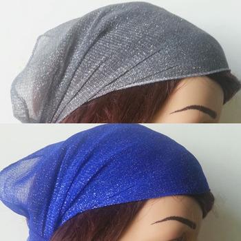 10pcs women's fashion Stretch Crochet Head Wrap elastic cloth headband hair accessories grey blue color headwrap