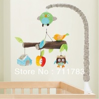 2013 new friendly forest series baby soft toy, baby plush animal musical mobile, baby gift toy. free shipping