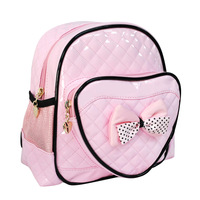 2013 Infant High quality school bag powder black heart mini female child backpack 1 - 4 child backpack  free shipping